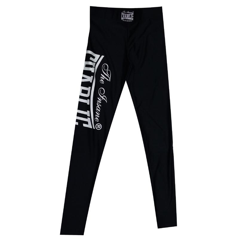 pantalon de licra en blanco y negro
